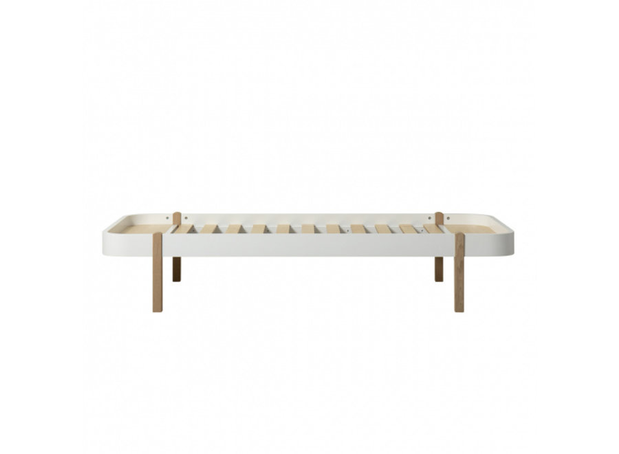 WOOD LOUNGER 90, WHITE/OAK