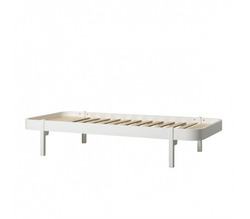 WOOD LOUNGER 90, WHITE