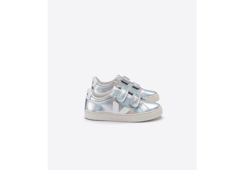 Veja SMALL ESPLAR VELCRO LEATHER UNICORN WHITE
