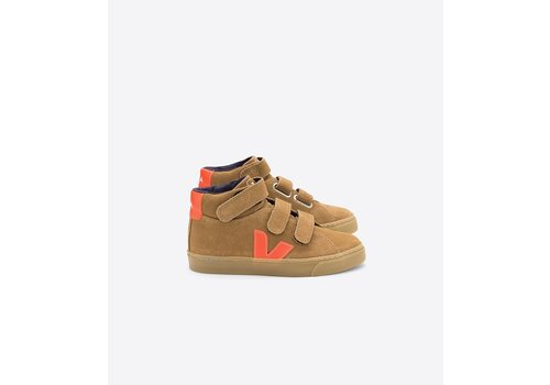 Veja ESPLAR MID VELCRO SUEDE TENT ORANGE-FLUO NATURAL-SOLE