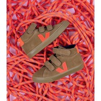 ESPLAR MID VELCRO SUEDE TENT ORANGE-FLUO NATURAL-SOLE