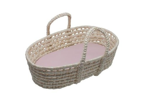 Sebra Doll''s carry cot, sunset pink