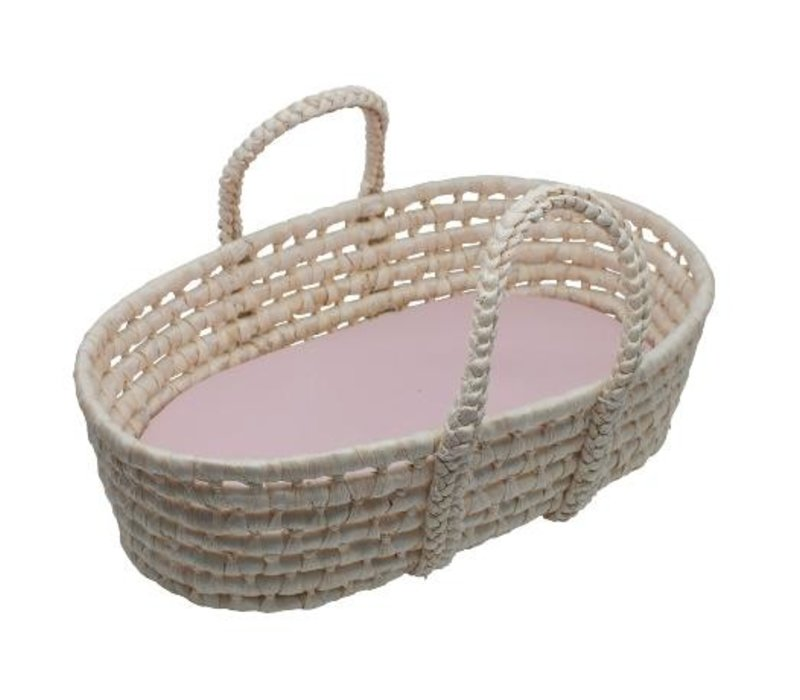 Doll''s carry cot, sunset pink