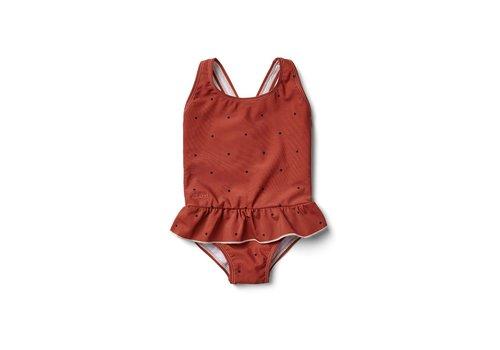 Liewood Amara swimsuit Classic dot rusty