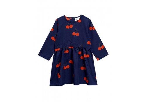 Mini Rodini Cherry woven ls dress Blue