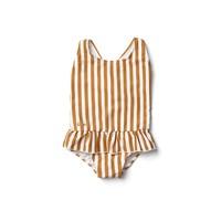 Amara Swimsuit - Stripe: Mustard/Creme de la creme