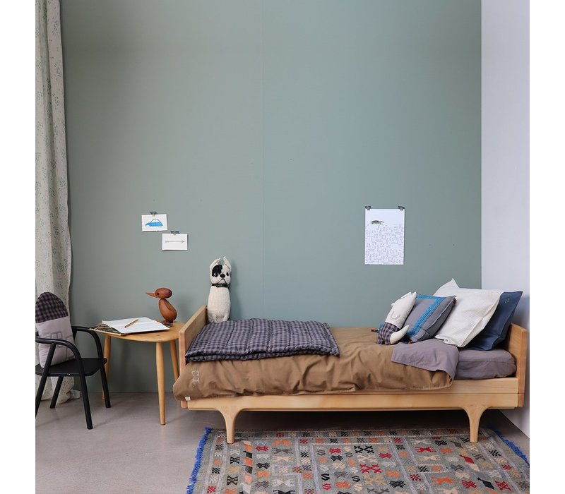 F/Sheet 100% Organic Grey COT W60cm x L120cm
