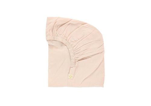 Camomile London F/Sheet Organic Pink COT W60cm x L120cm