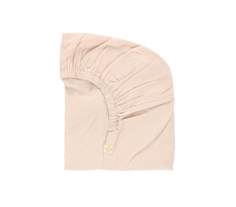 F/Sheet Organic Pink COT W60cm x L120cm