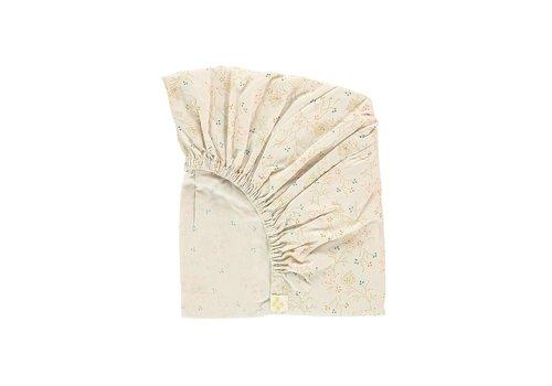 Camomile London F/Sheet Minako Floral Golden COT/JUNIOR W70cm x L140cm