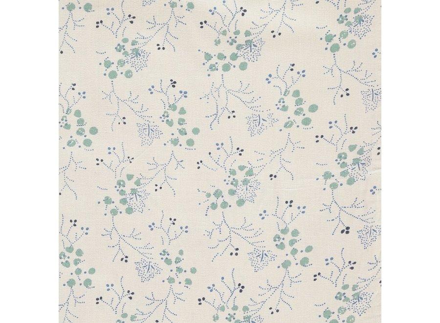 F/Sheet Minako Floral Cornflower COT/JUNIOR W70cm x L140cm