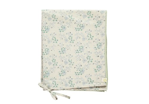 Camomile London Duvet Cover Minako Floral Cornflower SINGLE W140cm x L200cm