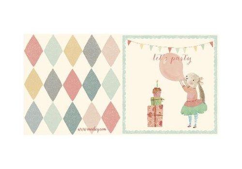 Maileg BUNNY BALLON, DOUBLE CARD
