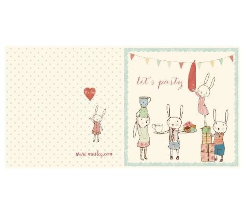 BUNNY PARTY, DOUBLE CARD