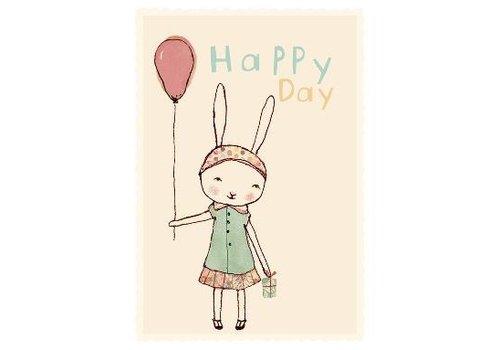 Maileg HAPPY DAY, GIRL, SINGLE CARD