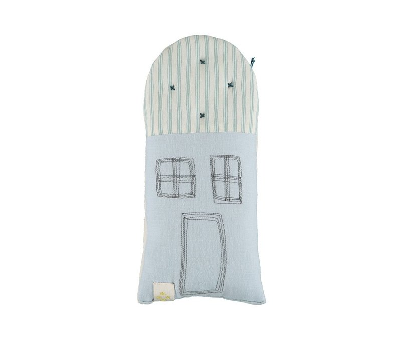 PETIT HOUSE cushion Ticking Stripe/ Powder Blue-Ticking Marine W11cm x H26cm