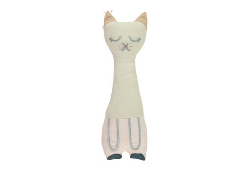 Camomile London TALL CAT Stone & Pink W12cm x H34cm