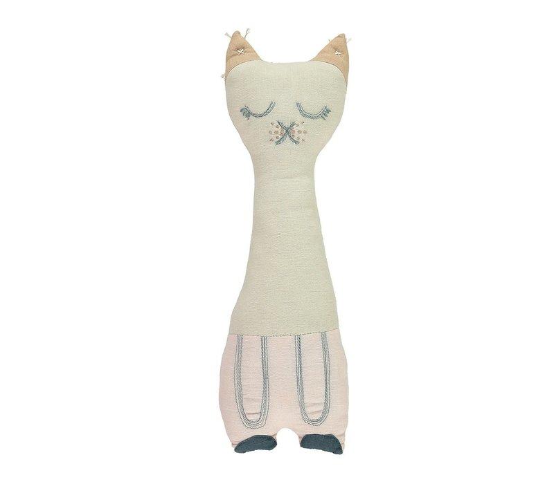 TALL CAT Stone & Pink W12cm x H34cm