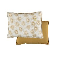 P/Cushion Spot Floral Ochre Small Rectangle W22cm x L30cm