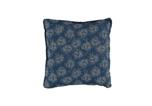 Camomile London P/Cushion Spot Floral Indigo print Square W30cm x L30cm