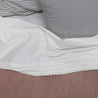 Top Sheet Pin Tuck Emb. Chalk Small Cot W90cm x L145cm Soft Wash Finish