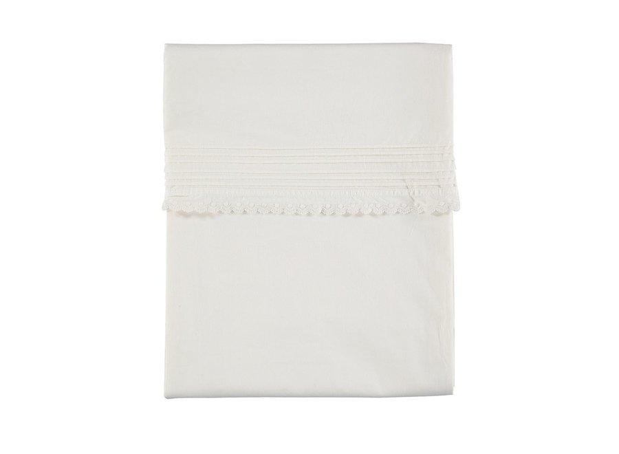 D/Cover Pin Tuck Emb. Chalk Single W140cm x L200cm Soft Wash Finish