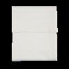 Camomile London D/Cover Pin Tuck Emb. Chalk Euro Cot W100cm x L140cm Soft Wash Finish