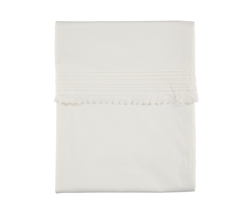 D/Cover Pin Tuck Emb. Chalk Euro Cot W100cm x L140cm Soft Wash Finish