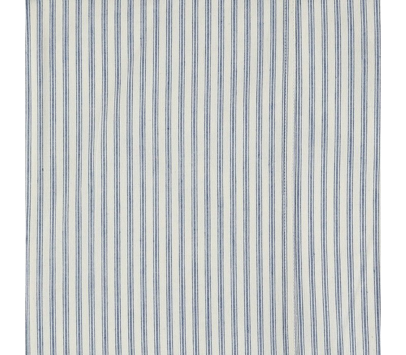 F/Sheet Ticking Stripe Blue Single W90cm x L200cm