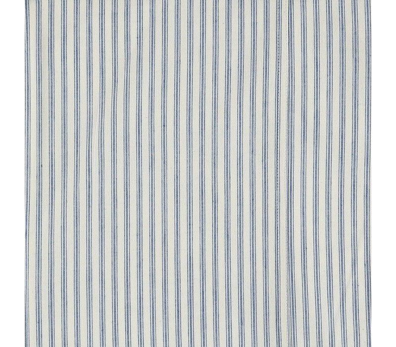 F/Sheet Ticking Stripe Blue Small Cot W60cm x L120cm