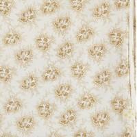 F/Sheet Spot Floral Ochre Cot/Junior W70cm x L140cm