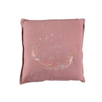 S/Cushion Hand Embroidered Blush SQUARE W30cm x L30cm