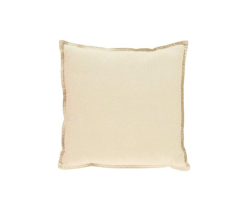 S/Cushion Hand Embroidered Cream/Mint V/Cream SQUARE W30cm x L30cm
