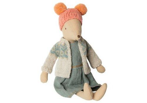 Maileg Winter mouse, medium - Girl