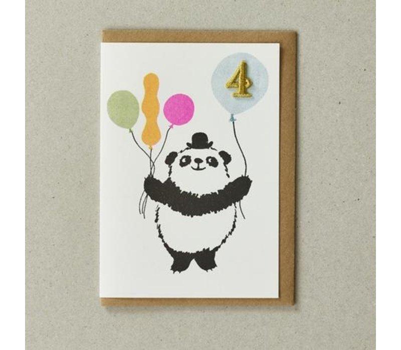 Confetti Pets Card - Panda ( age 4)