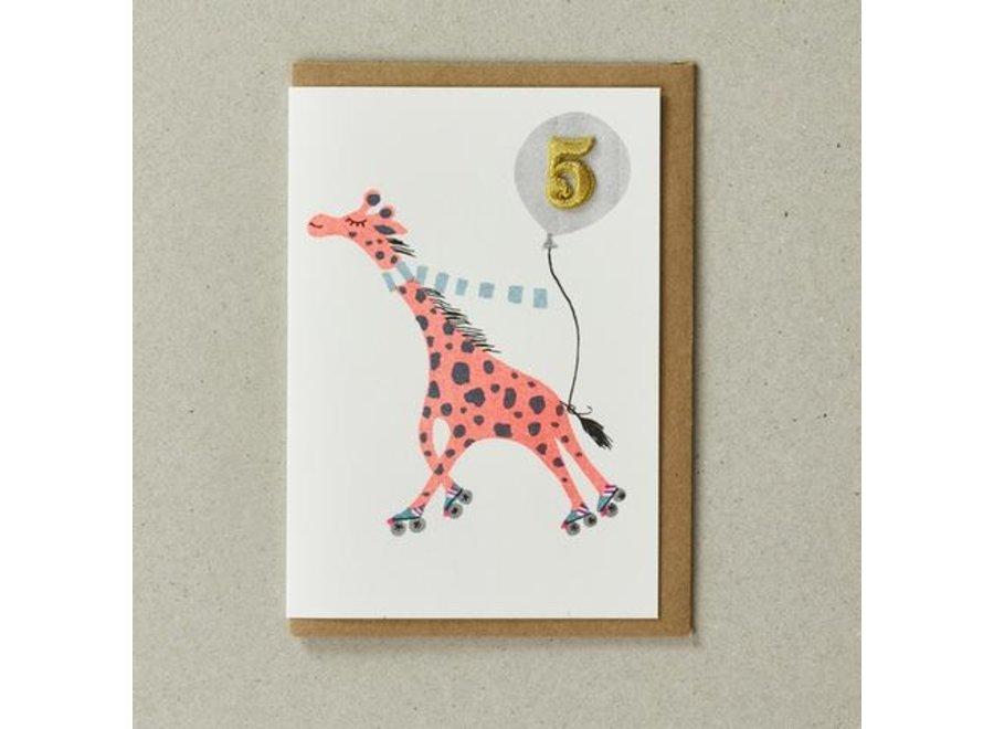 Confetti Pets Card - Giraffe ( age 5)