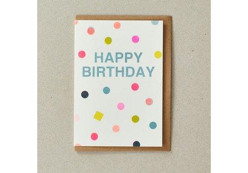 Riso Shapes Happy Birthday Spots