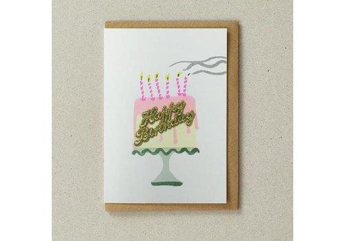 Cake Card - Happy Birthday