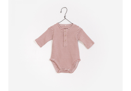 Play up Collarless Striped Rib Bodysuit