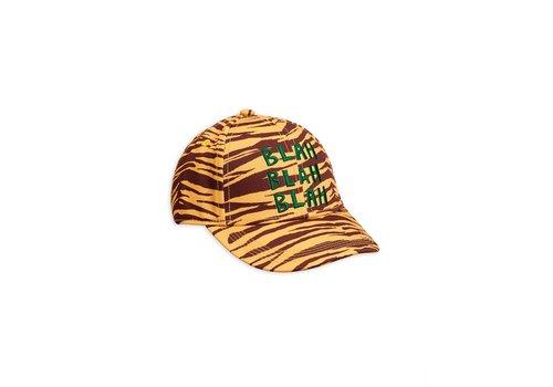 Mini Rodini Tiger stripe cap Brown