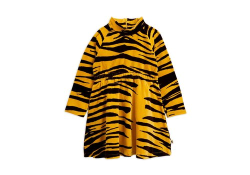 Mini Rodini Tiger velour dress Brown