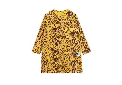 Mini Rodini Leopard ls dress Yellow