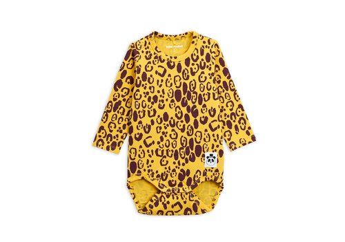 Mini Rodini Leopard ls body Yellow