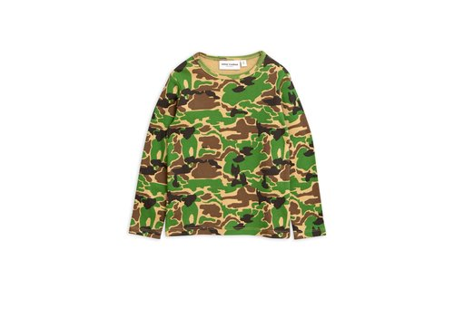 Mini Rodini Camo ls tee Green