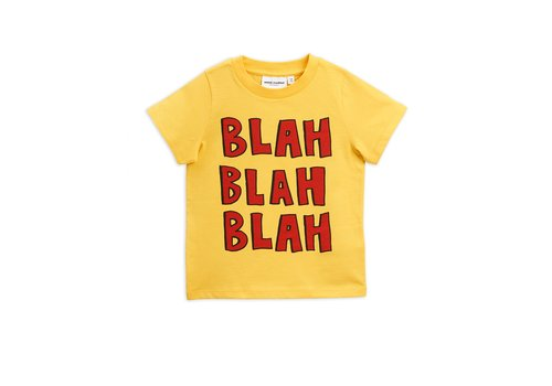 Mini Rodini Blah sp ss tee Yellow