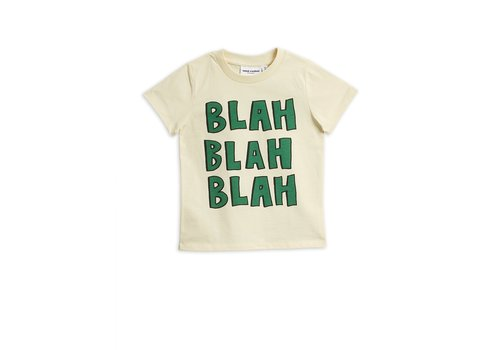 Mini Rodini Blah sp ss tee Offwhite