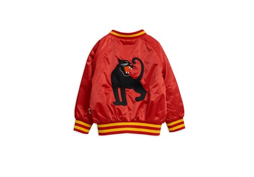 Mini Rodini Panther baseball jacket Red
