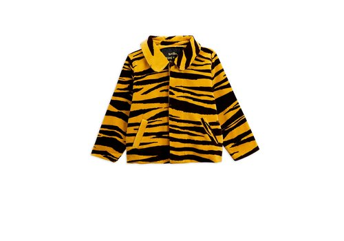 Mini Rodini Tiger velour jacket Brown