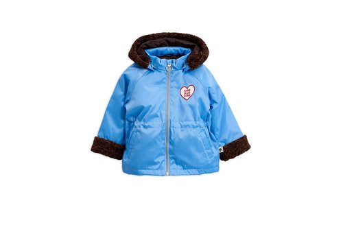 Mini Rodini Faux fur parka Light blue
