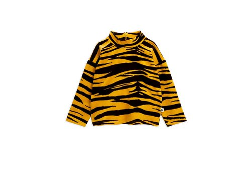 Mini Rodini Tiger velour sweater Brown